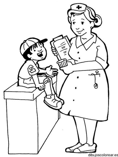 nurse tools coloring page dibujo de un ni 241 o con una enfermera