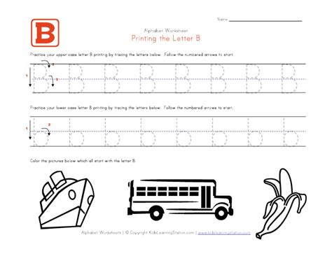 worksheets for preschool letter b free traceable alphabet letter b worksheet preschool