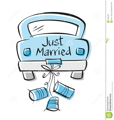 Just Married Auto Clipart by Just Married Auto Clipart 6 Clipart Station