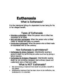 Euthanasia Research Paper Introduction by What Is Euthanasia A Level General Studies Marked By Teachers