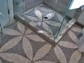polished white pebble tile