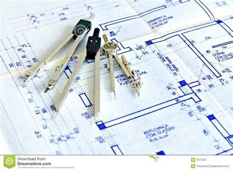 blueprint tool blueprint and tools royalty free stock photography image
