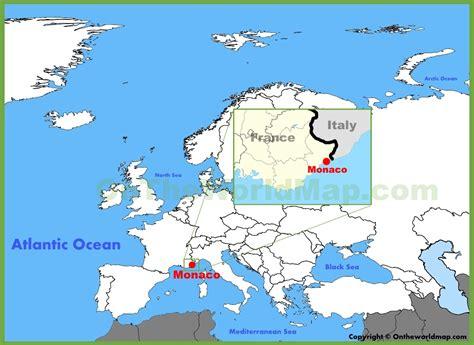 monaco europe map monaco location on the europe map