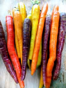 different colored carrots rainbow carrot ribbon salad proud italian cook