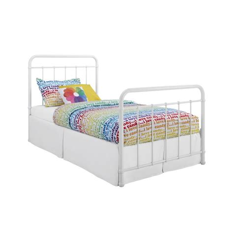 white iron twin bed iron twin bed in white 3291096
