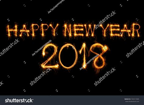 happy new year 2018 text happy new year 2018 text written stock photo 769317409