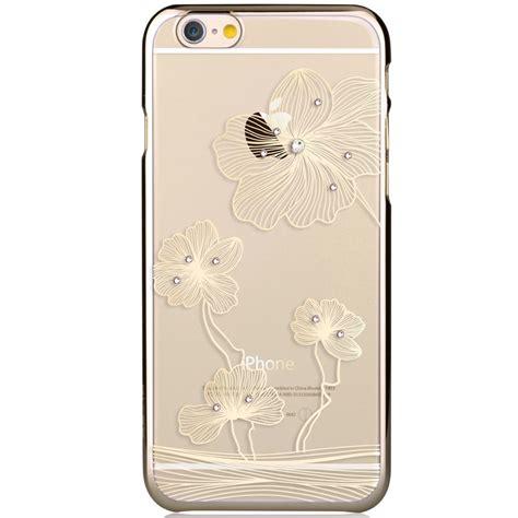 Devia Phone Ip6 Flora Pink comma baksideskal till apple iphone 6 6s guld blommor