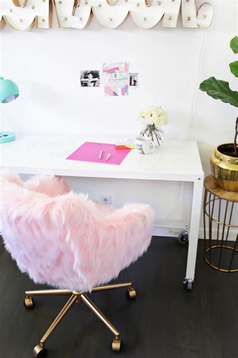 fluffy desk chair ikea project restyle office chair makeover a beautiful mess