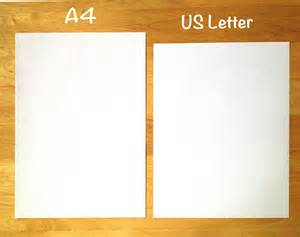 image gallery letter vs a4 paper