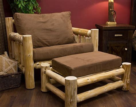 log couches cedar cabin log chair and a half jhe s log furniture