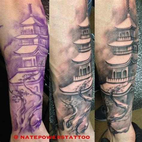 chinese temple tattoo designs buddhist temple fitness tattoos