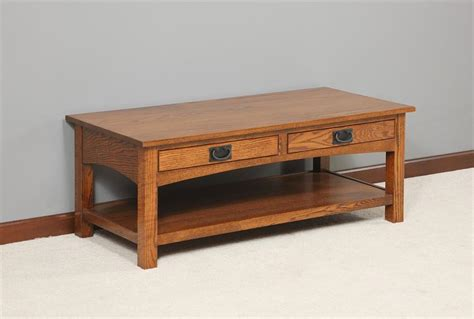 amish mission arched side coffee table