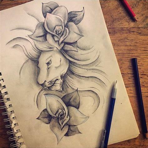 lion flower tattoo mulpix design for i did mckinna davis
