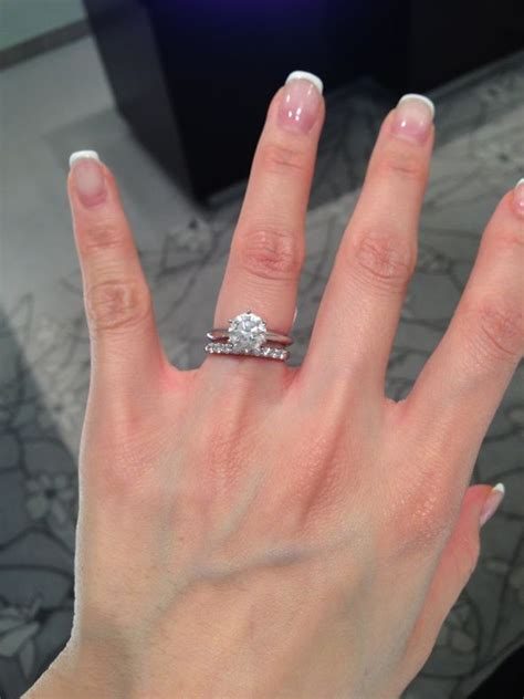 help with choosing wedding band with solitaire ring