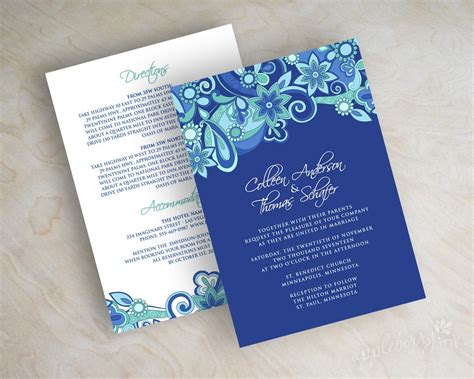 blue wedding invitations 15 printable wedding invitation templates cards sles