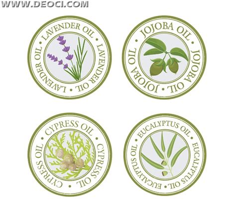 label design cdr free download round plant oil label design template vector material cdr