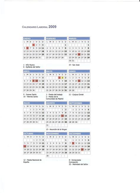 Calendario Laboral 2006 Calendario Laboral 2009 El Intercambiador