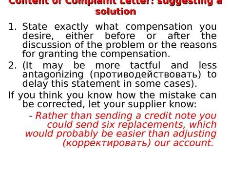 Complaint Letter Questions Complaint Letters Problem Questions 1 1