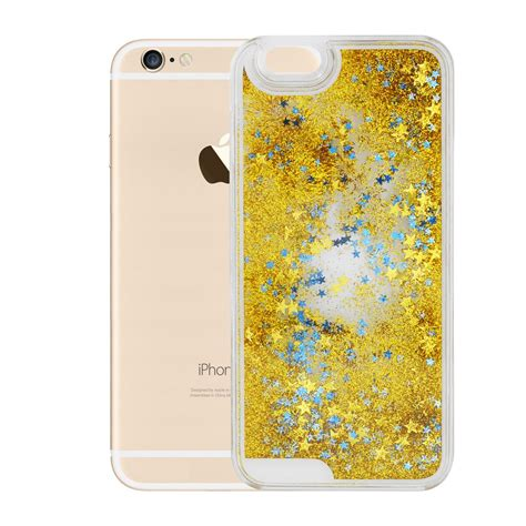 Hardcase Liquid Glitter Gold Iphone 6 Plus liquid glitter stylish clear series for iphone