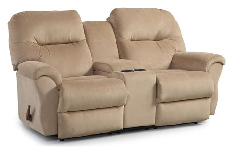 rocking recliner sofa bodie rocking reclining loveseat with storage console by
