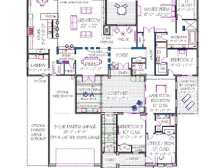 adobe house plans with courtyard courtyard house plans house plans with