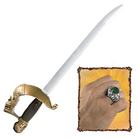 jack sparrow pirate sword pirates 3 jack sparrow s sensor sword and pirate ring