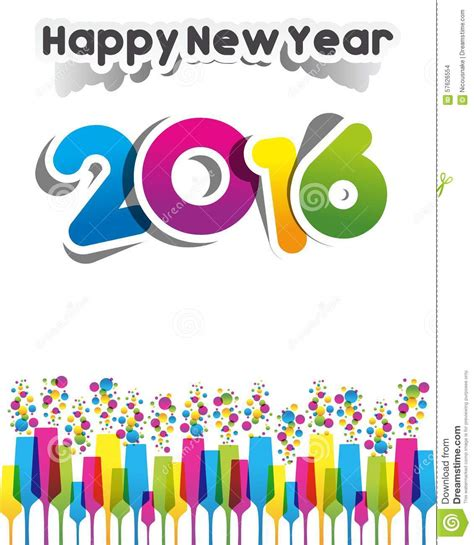 New Year Card Template 2016 by Happy New Year 2016 Stock Vector Image 57626554