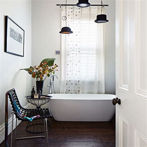 white bathroom with dark wood floor bathroom decorating