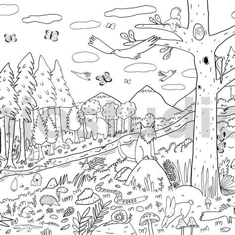 imagenes de ecosistemas faciles para dibujar 10 dibujos de paisajes rurales para colorear