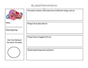 Student Learning Log Template by 26 Best Images About Back To School On