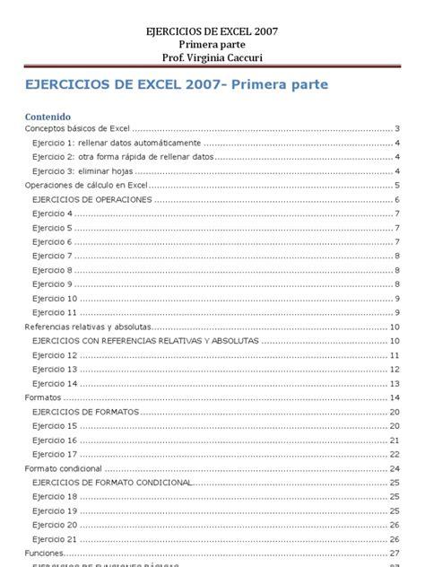 tutorial excel 2010 nivel medio ejercicios excel 2007 basico pdf ejercicios de excel