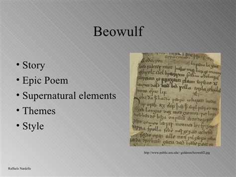 themes of beowulf poem beowulf1