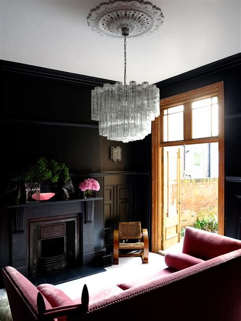 black living room paint