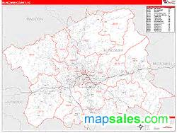 Asheville Zip Code Map by Buncombe County Nc Zip Code Wall Map Red Line Style By