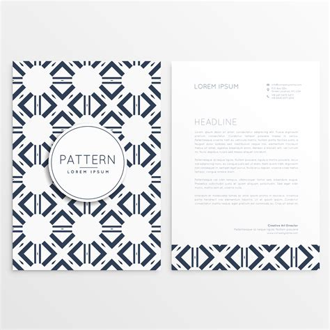 pattern leaflet abstract leaflet template with pattern shape download