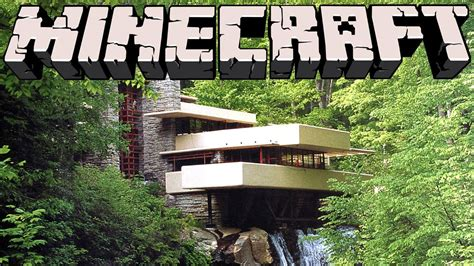 water house minecraft falling water house youtube