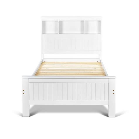 The Bed Storage Shelf by King Single Belmore Wooden Bed Frame With Storage Shelf