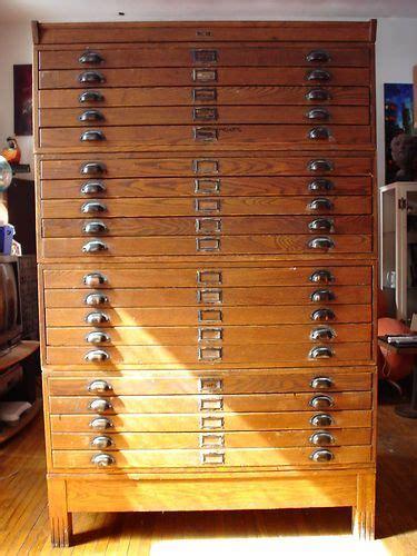 Vintage Industrial Antique Dietzgen 20 Drawer Wood
