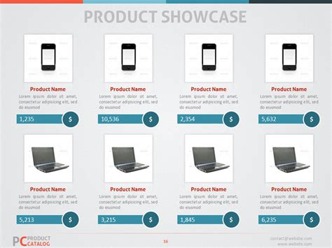 product catalog powerpoint template by adriandragne