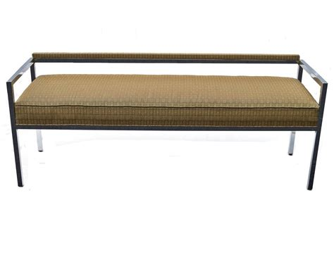 low back bench milo baughman low back bench sofa or loveseat at 1stdibs