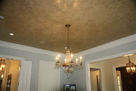 venetian plaster ceiling maybe in a blue ish color room