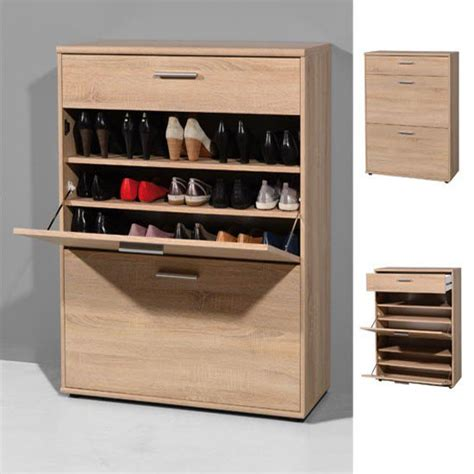 Large Shoe Storage Cabinet Big Foot Wooden Shoe Storage Cupboard In Oak 18781