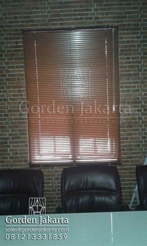 Vitrase Venetian Ukuran Custom harga venetian blinds wood motive slatting di duren sawit blinds jakarta