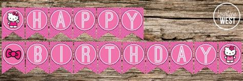 hello birthday banner template free printable hello happy birthday banner