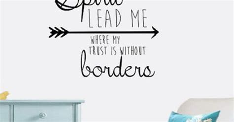 spirit lead me wall decal hillsong lyrics home decor