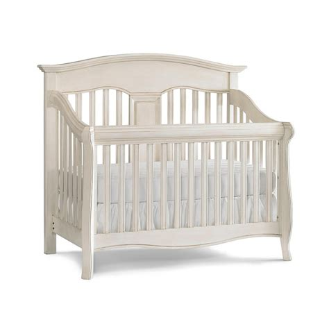 Babi Italia Mayfair Curved Convertible Crib Oyster Shell Babi Italia Convertible Crib