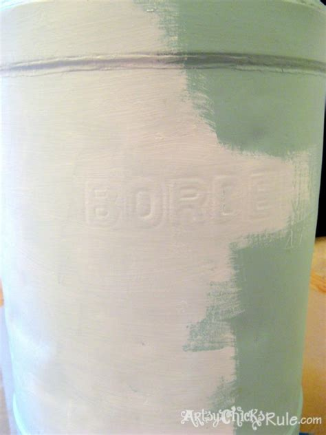 Chalk Paint Ideas Kitchen Old Milk Can Makeover Tutorial Artsy Rule 174