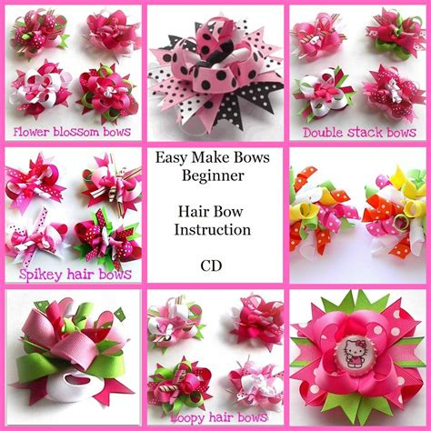 how to make hair bows written instructions how to make hair bow instructions cd 171 how to make hair