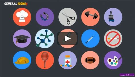 Videohive Animated Icons Professional Pack 187 Free After Effects Templates After Effects Intro Animated Emoticons Pack After Effects Template