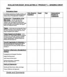 Evaluation Essay Template by Evaluation Essay Template 5 Free Sles Exles Format Free Premium Templates